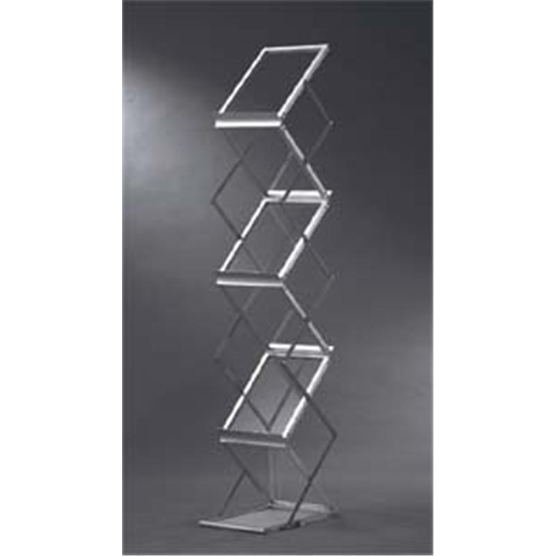 重庆折叠资料架 层板架 便携户外活动背景墙 A型展架