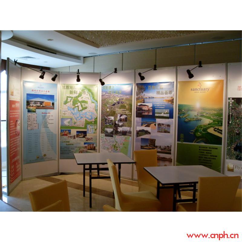 古董奢侈品展、会议展、图片展八棱柱铝材宣传背景板