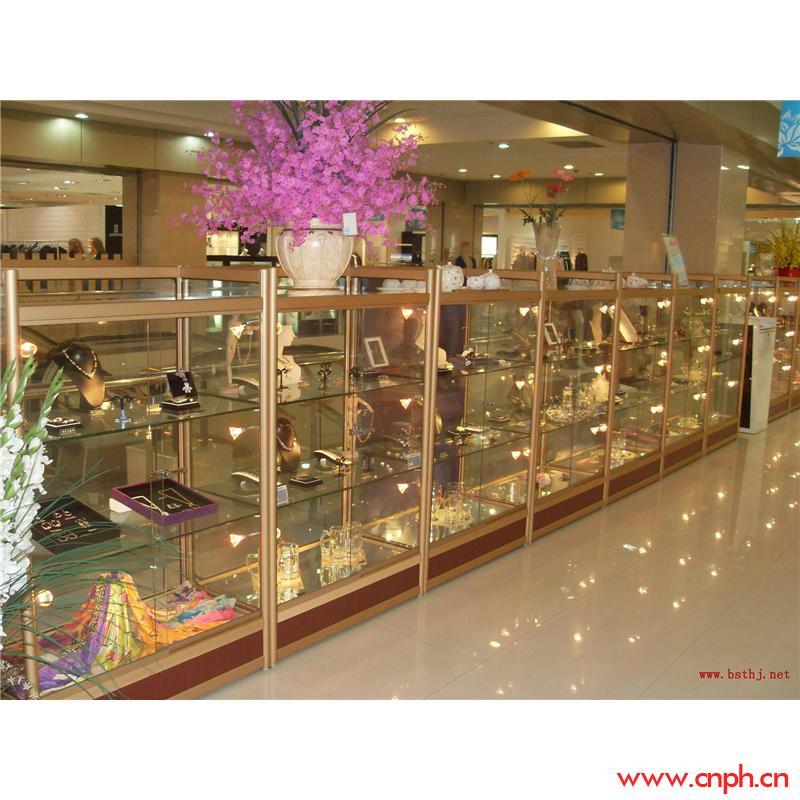 可拆装钛合金精品展示柜生产批发,玻璃样品展柜材料报价